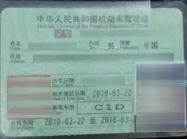 C1D驾照