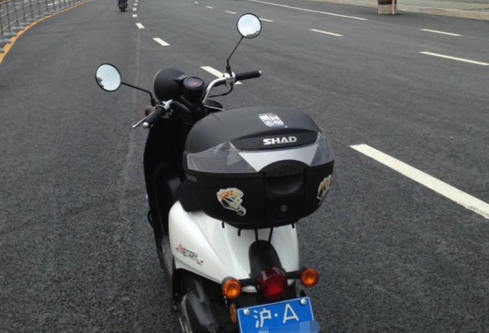 摩托车沪A蓝牌