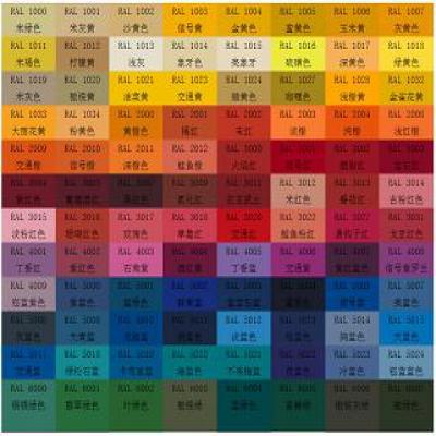 外观颜色定制(RAL色卡)